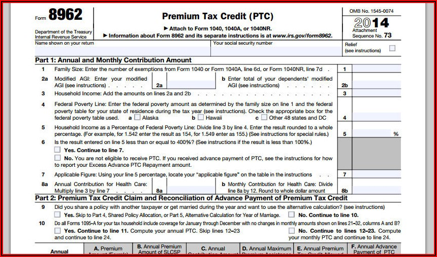 1040a 2014 Form Download