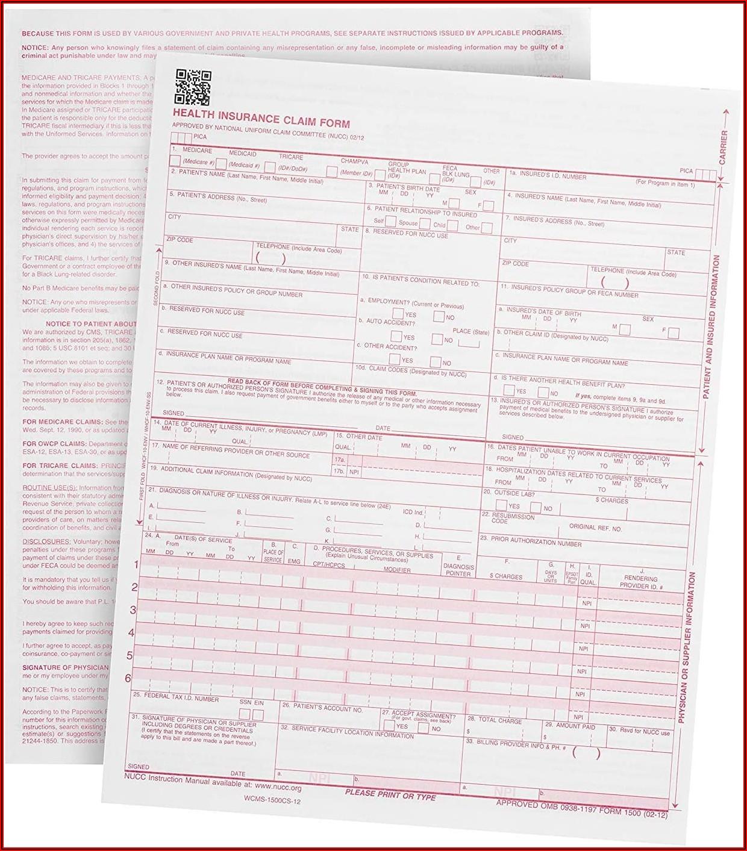 1500 Health Insurance Claim Form 0212
