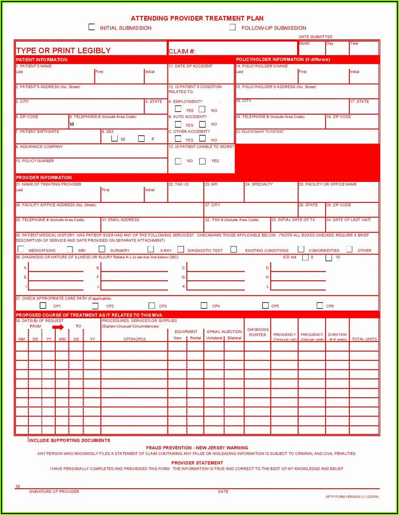 1500 Health Insurance Claim Form Printable