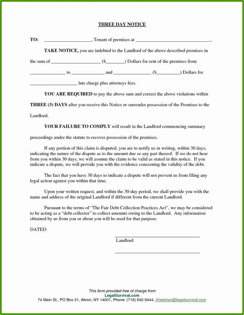 3 Day Eviction Notice Ohio Form