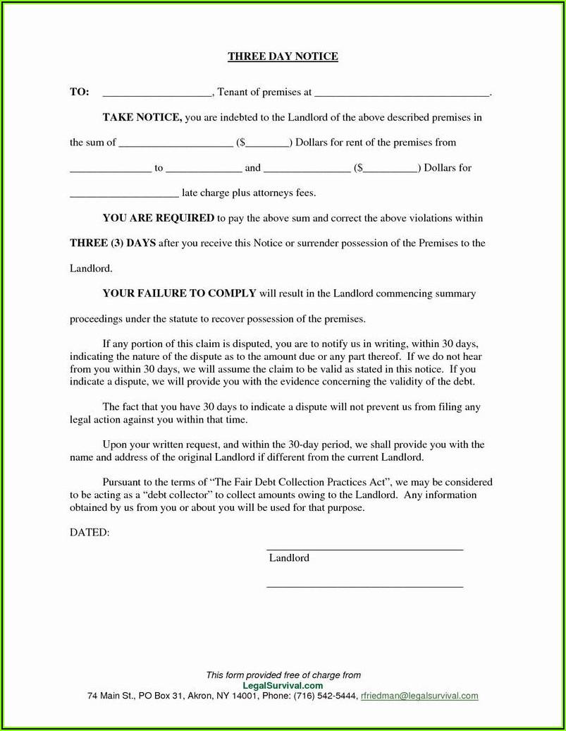 3 Day Eviction Notice Ohio Form