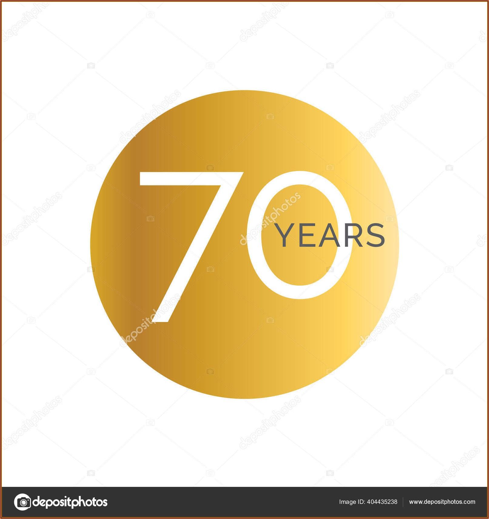 70th Birthday Banner Template