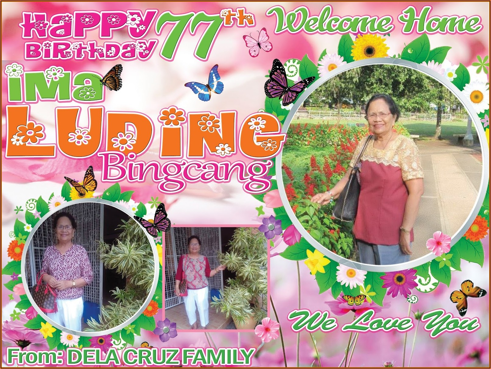70th Birthday Tarpaulin Template