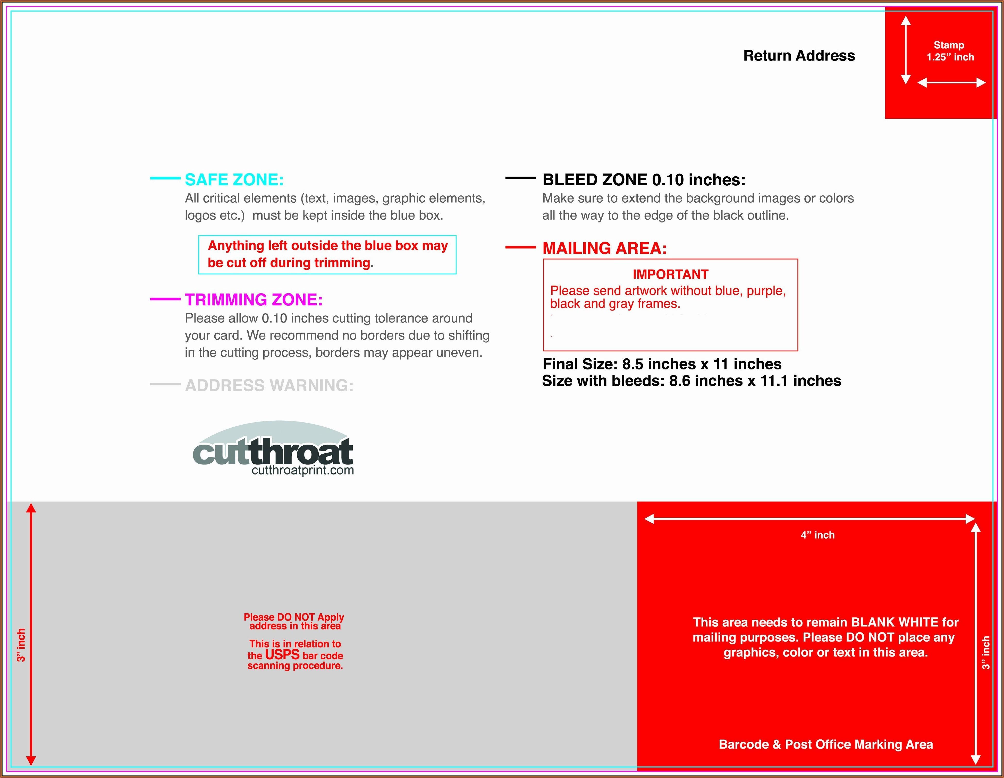 8.5 X 11 Postcard Template