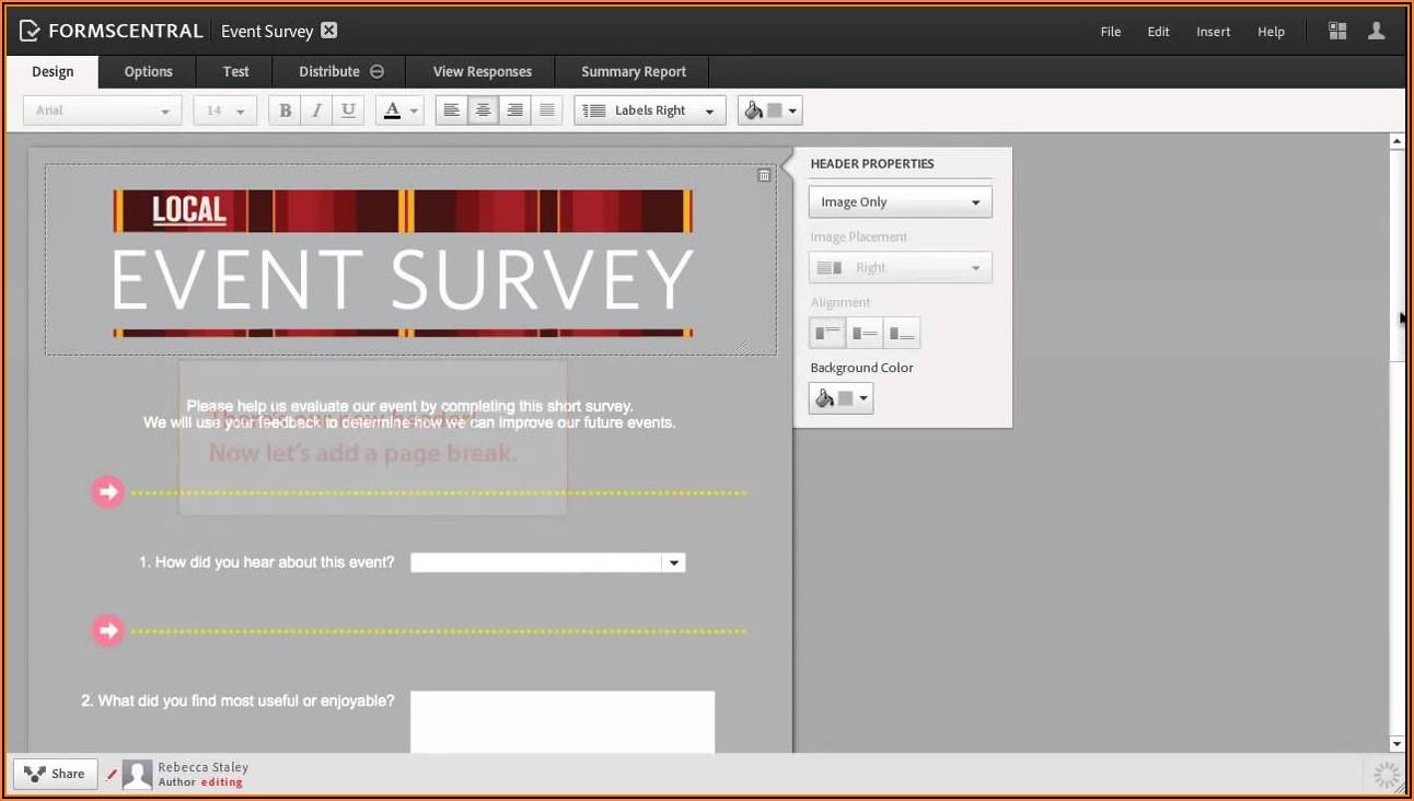 Adobe Formscentral Templates