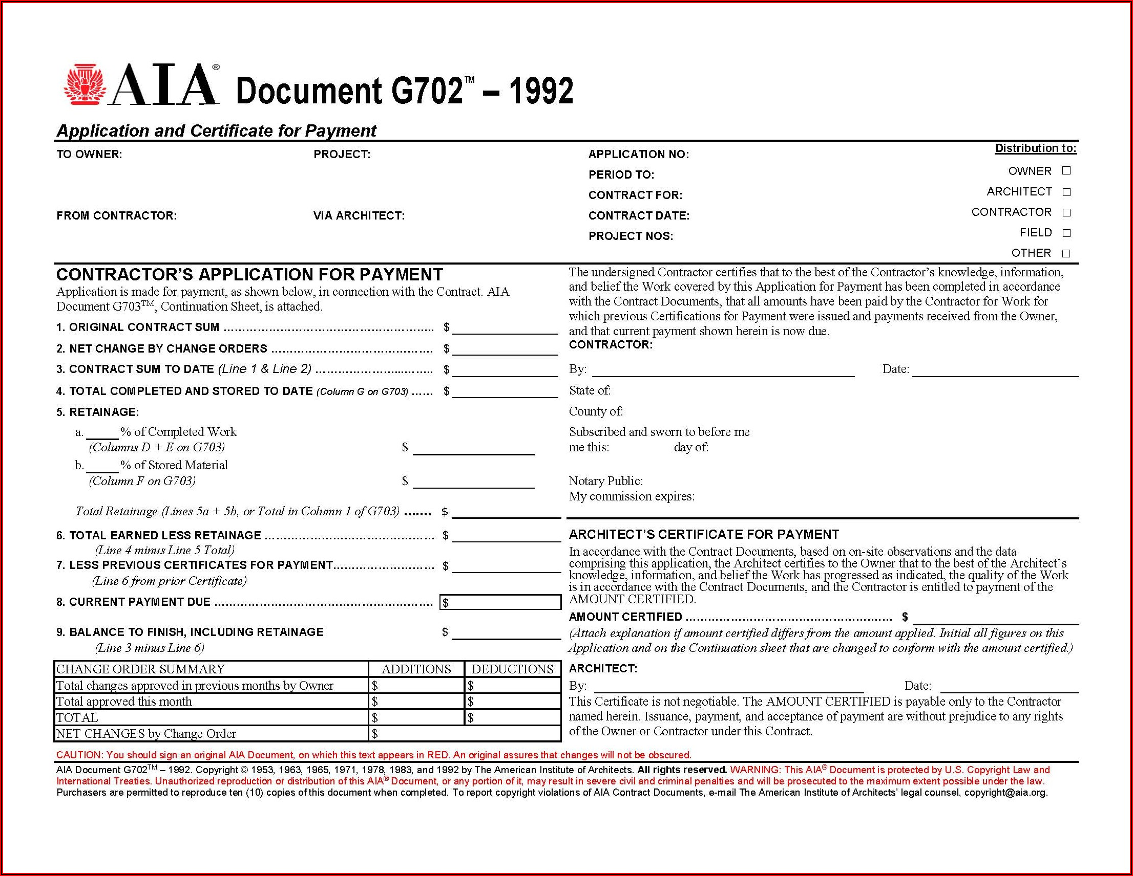 Aia Forms G702g703