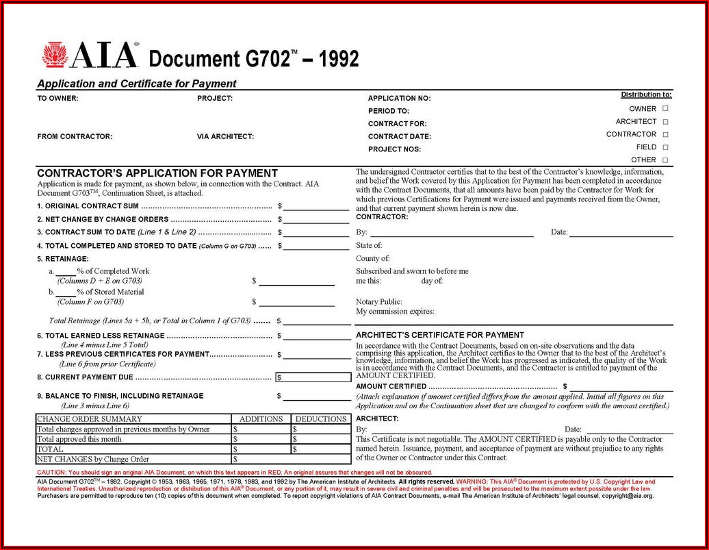 Aia G702 G703 Form