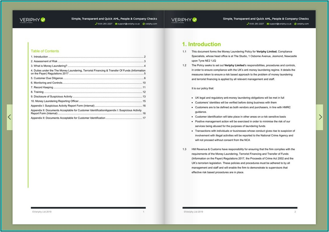Aml Policy Template Pdf