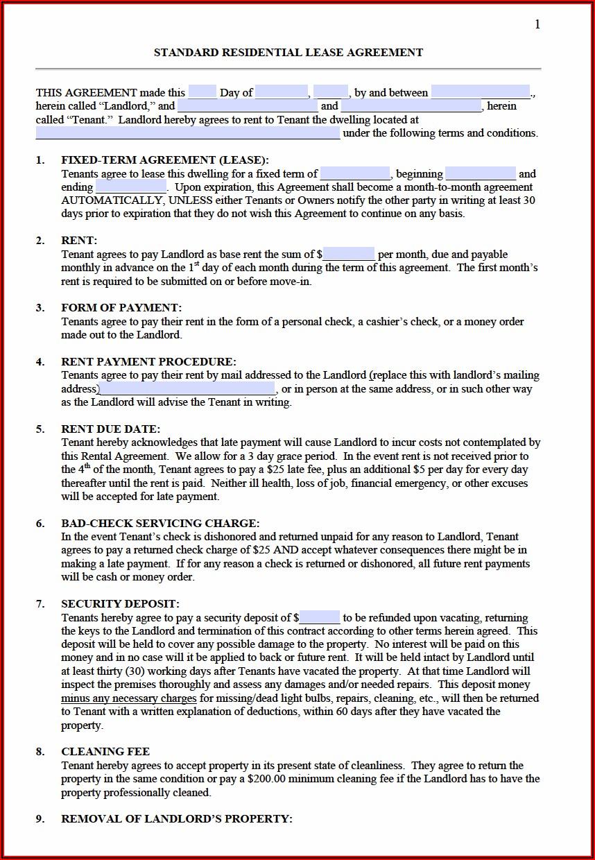 Annual Rental Agreement Form