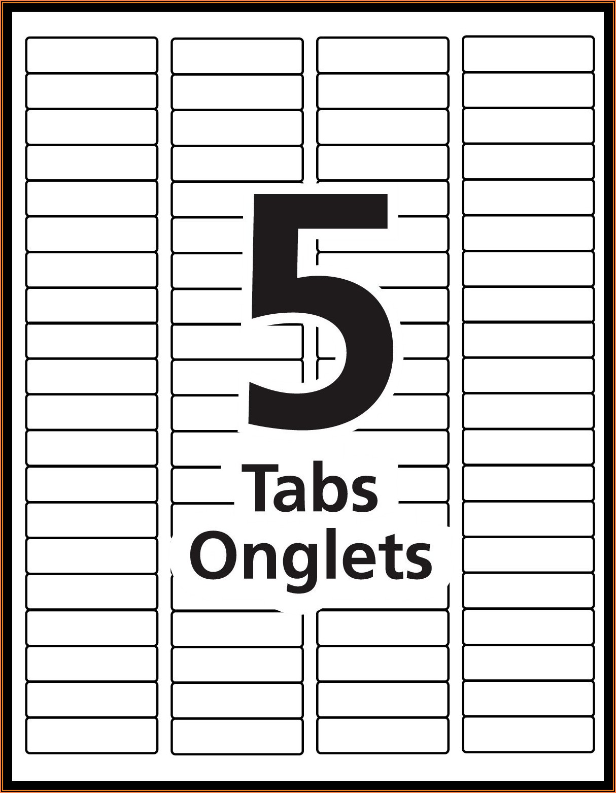 Avery Printable Tabs 16281 Template