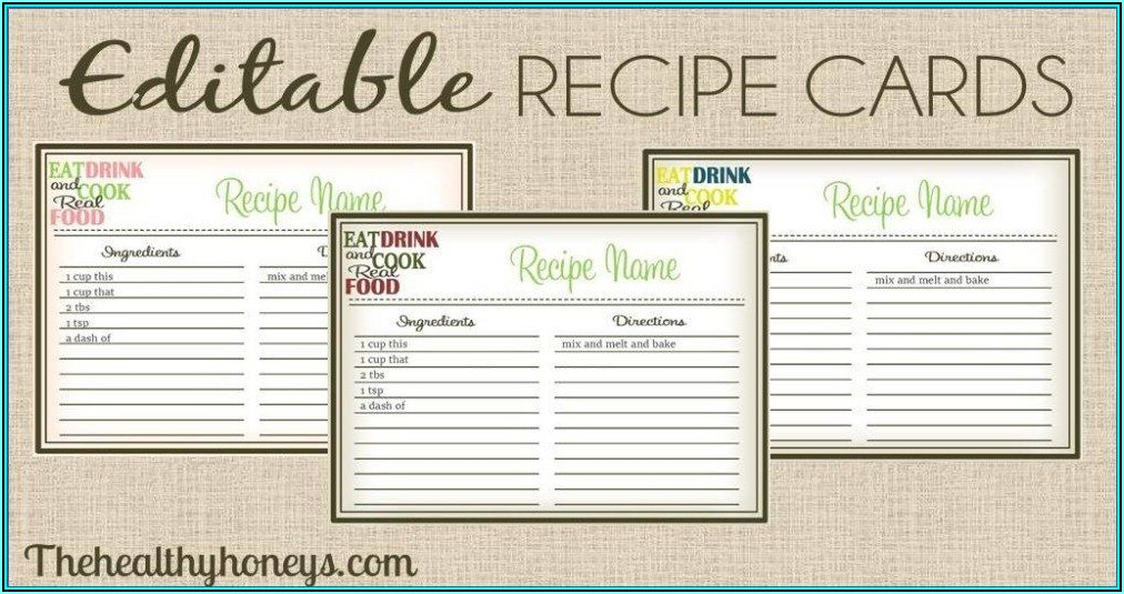 Avery Recipe Card Template