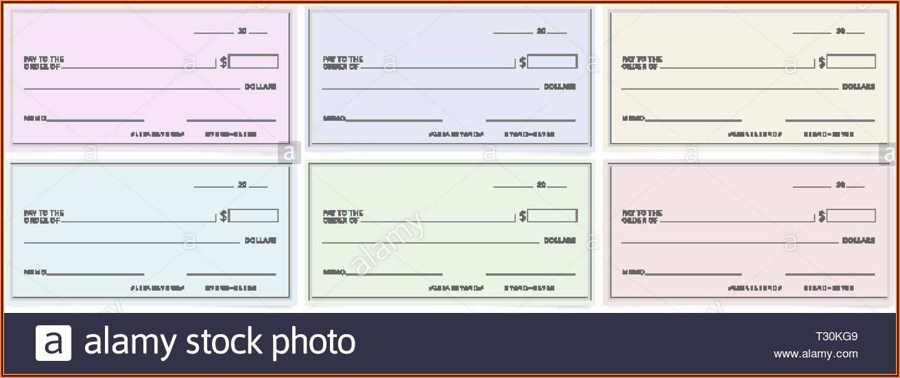 Blank Bank Checks Templates