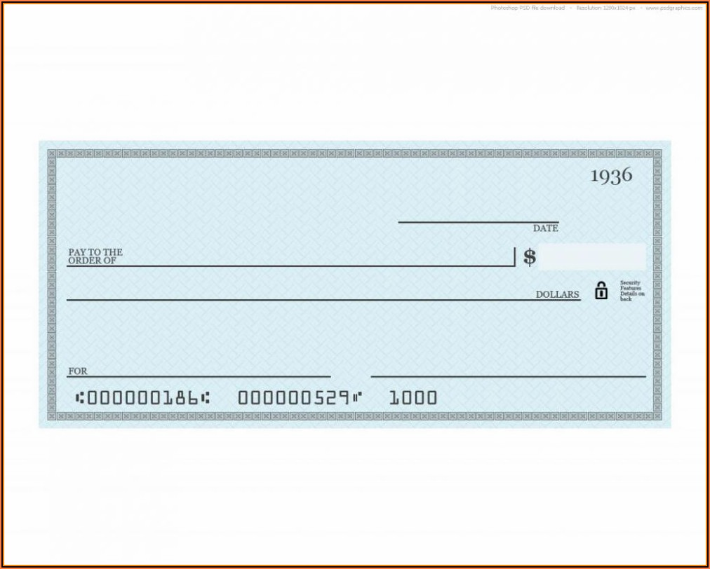 Blank Business Checks Template