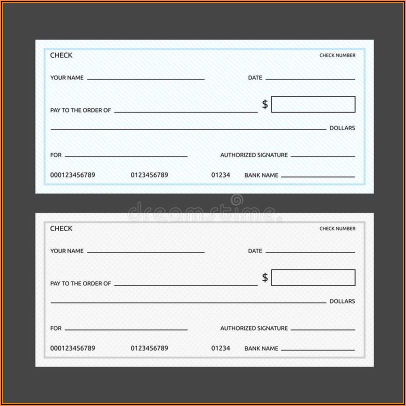 Blank Checks Template