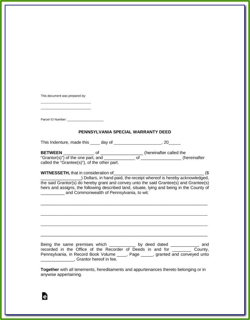 Blank Missouri Quit Claim Deed Form