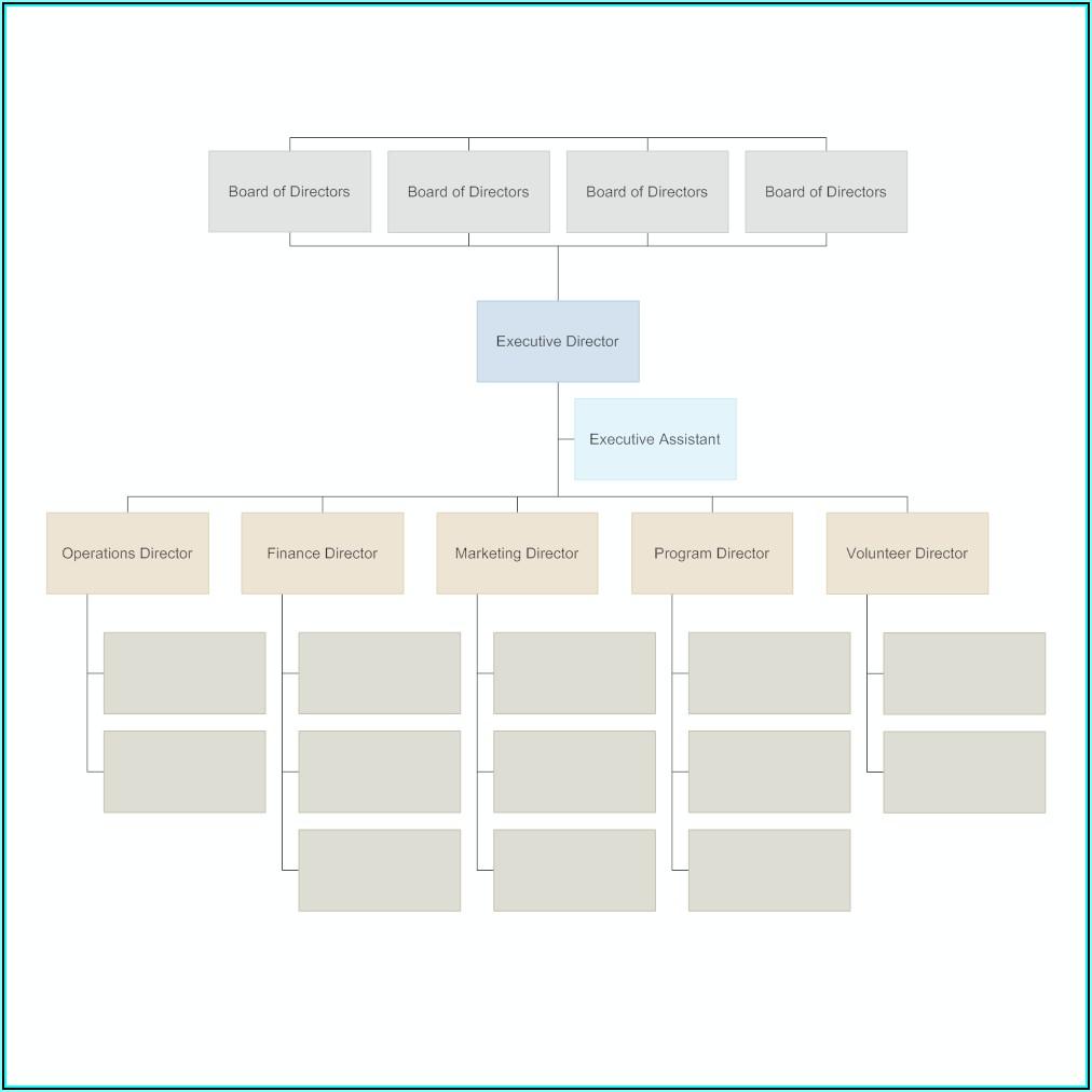 Blank Organisational Chart Template