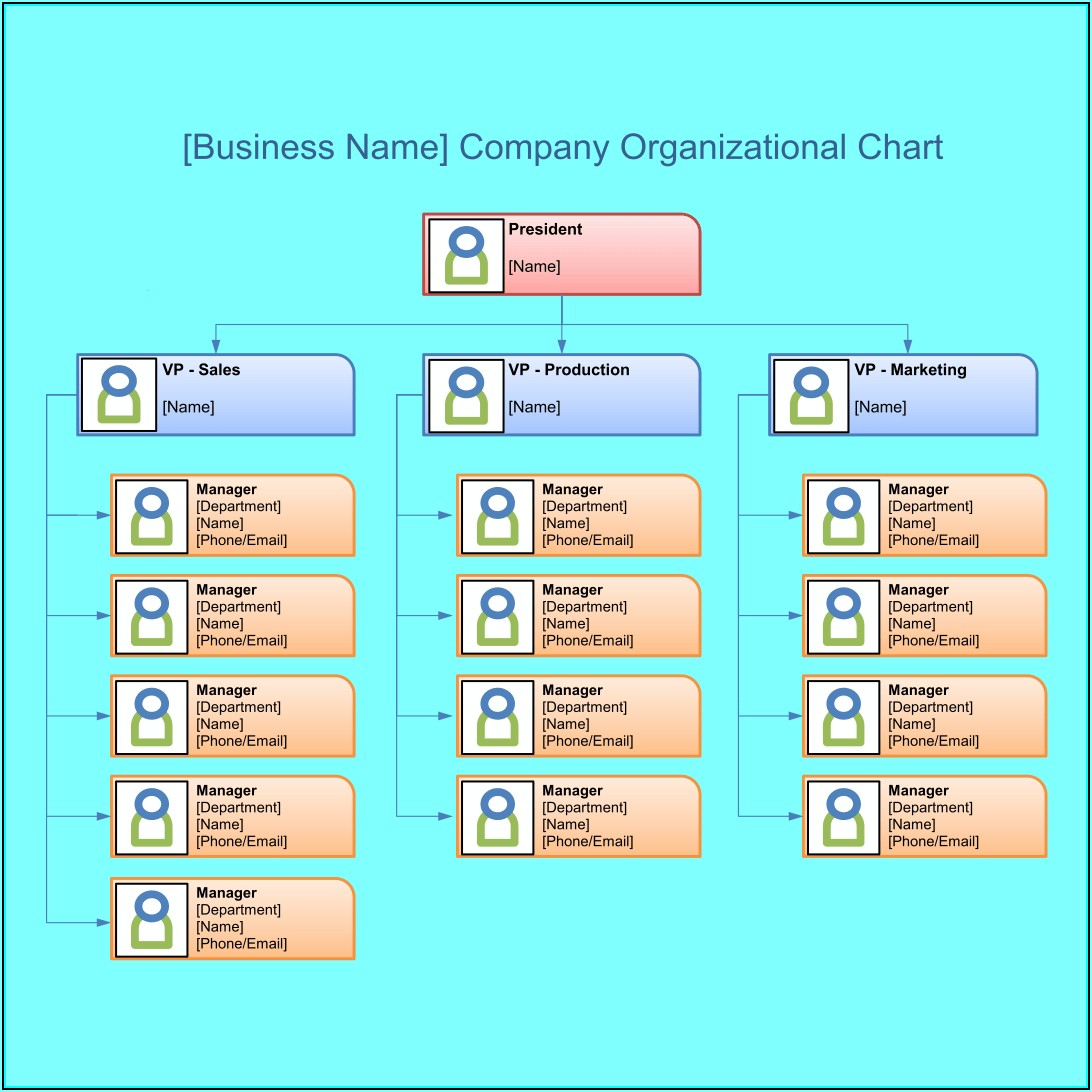 Blank Organizational Flow Chart Template