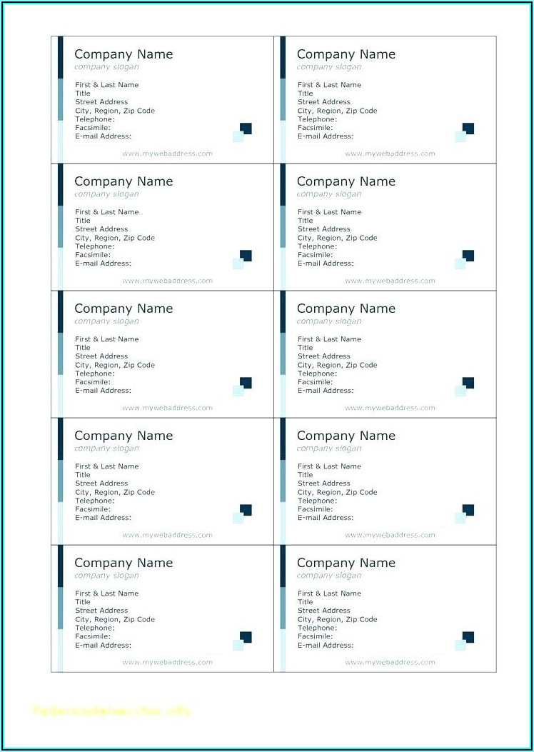Business Cards Avery Template