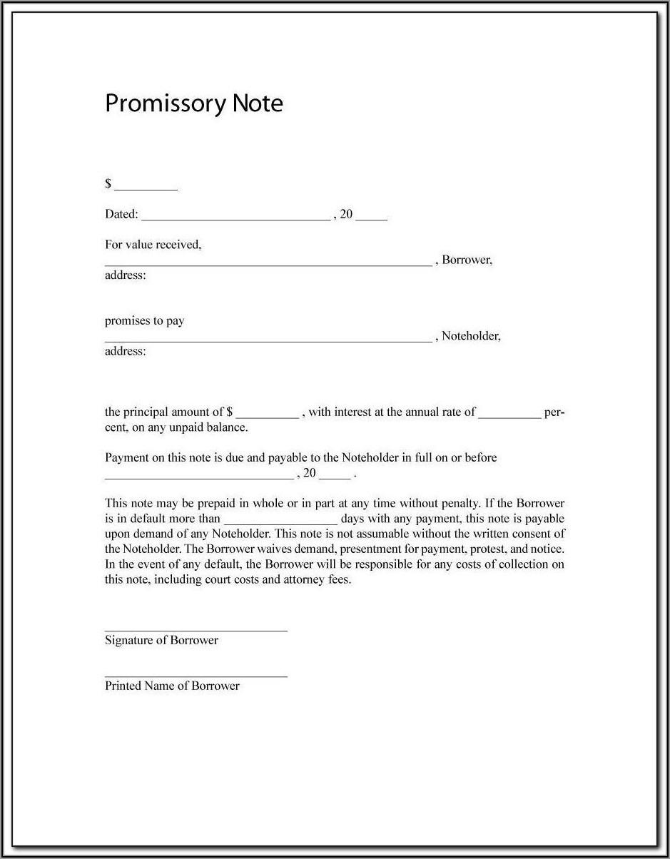 California Promissory Note (loan Agreement) Template