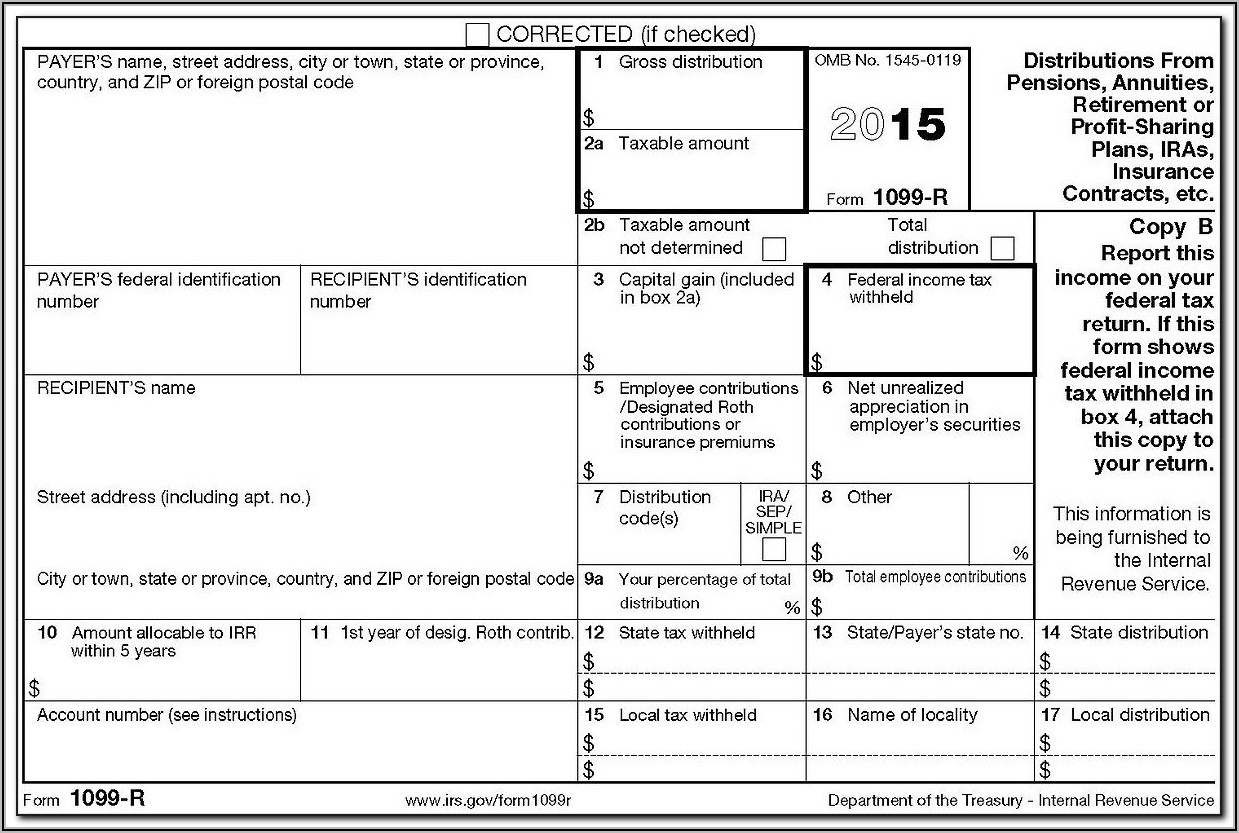 Cancellation Of Debt Form 1099 C