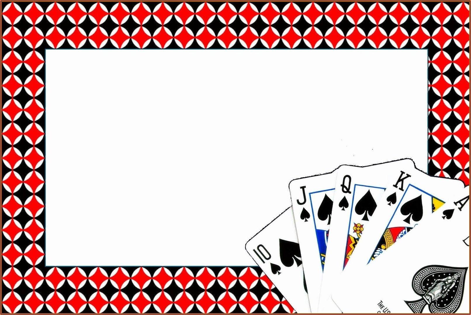 Casino Party Invitations Templates Free