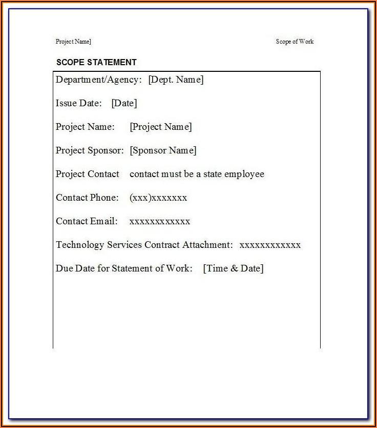 Cctv Installation Scope Of Work Sample