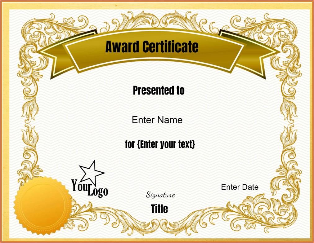 Certificate Seal Template Online