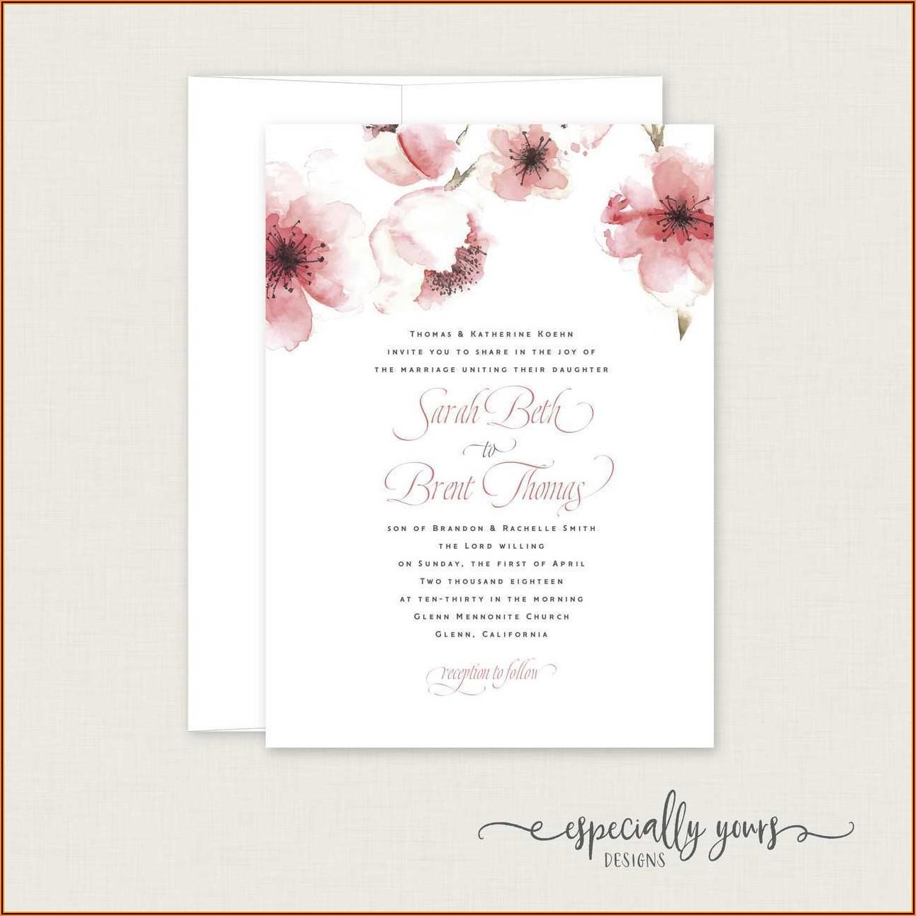 Cherry Blossom Invitation Template Free