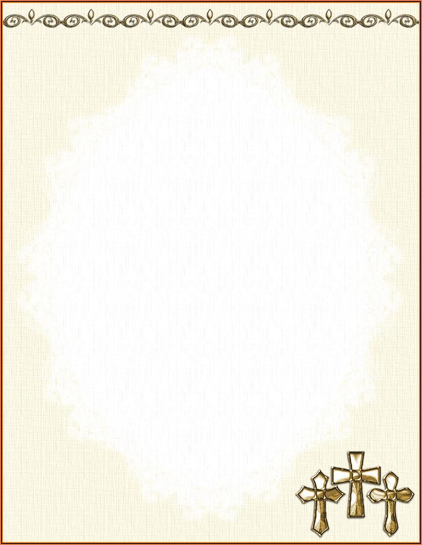 Christmas Religious Stationery Templates