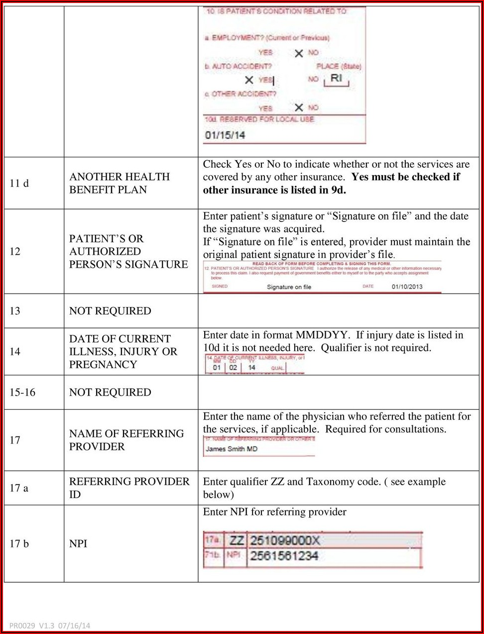 Cms 1500 Form 0212 Instructions