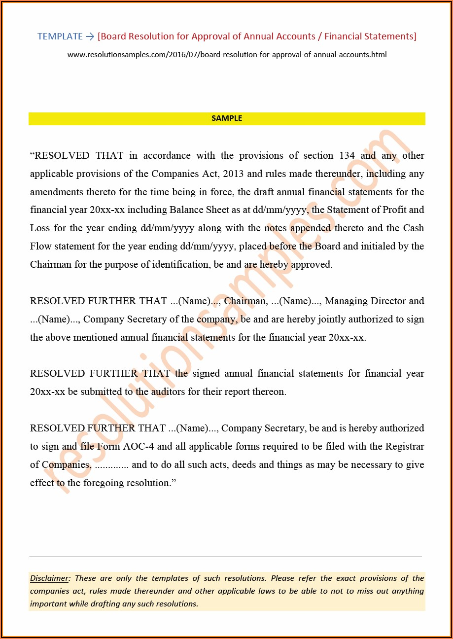 Consolidated Financial Statements Format As Per Companies Act 2013