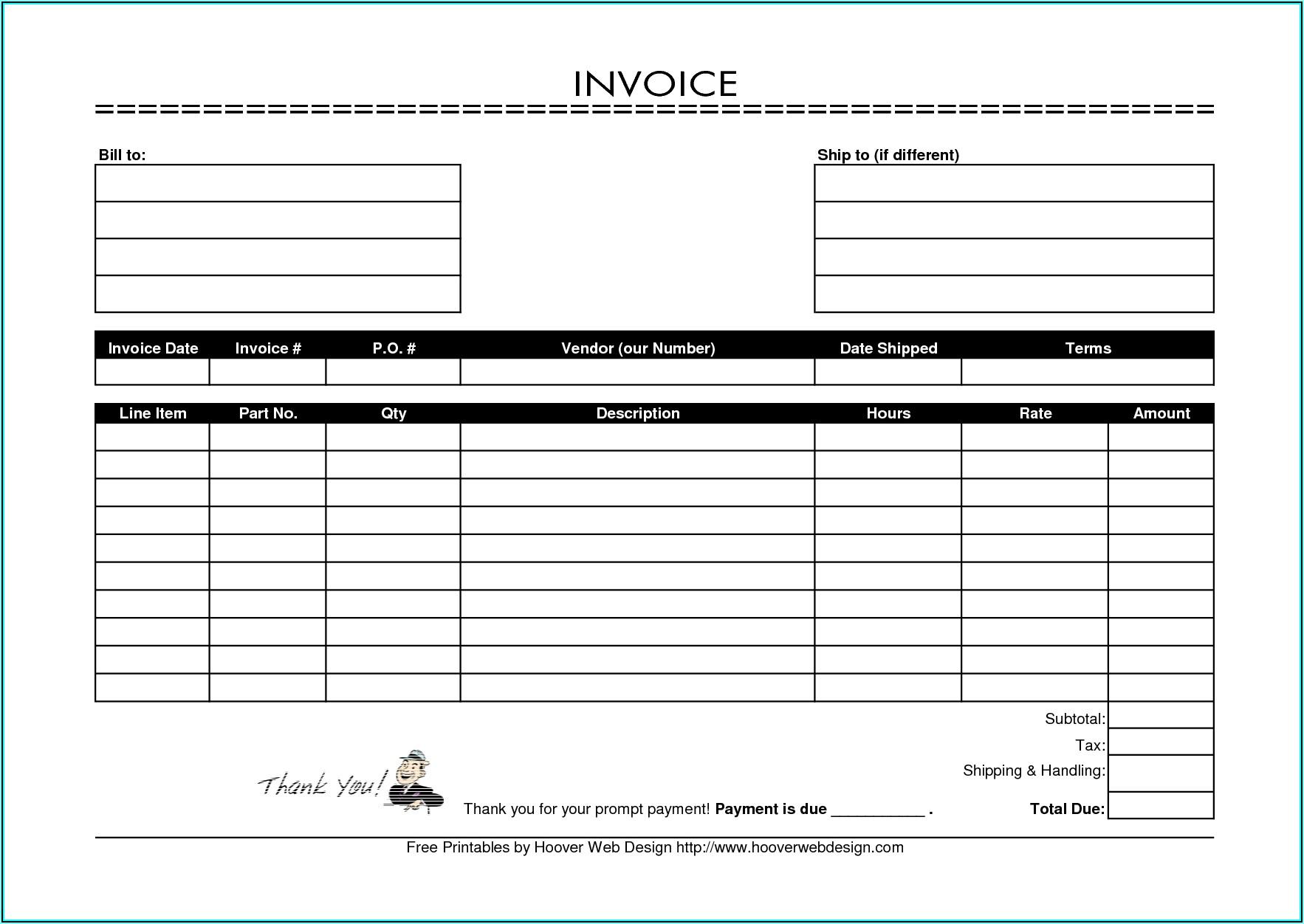 Consulting Invoice Template Pdf