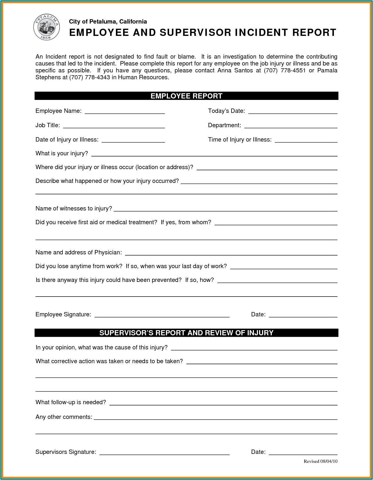 Cyber Security Incident Report Template Word
