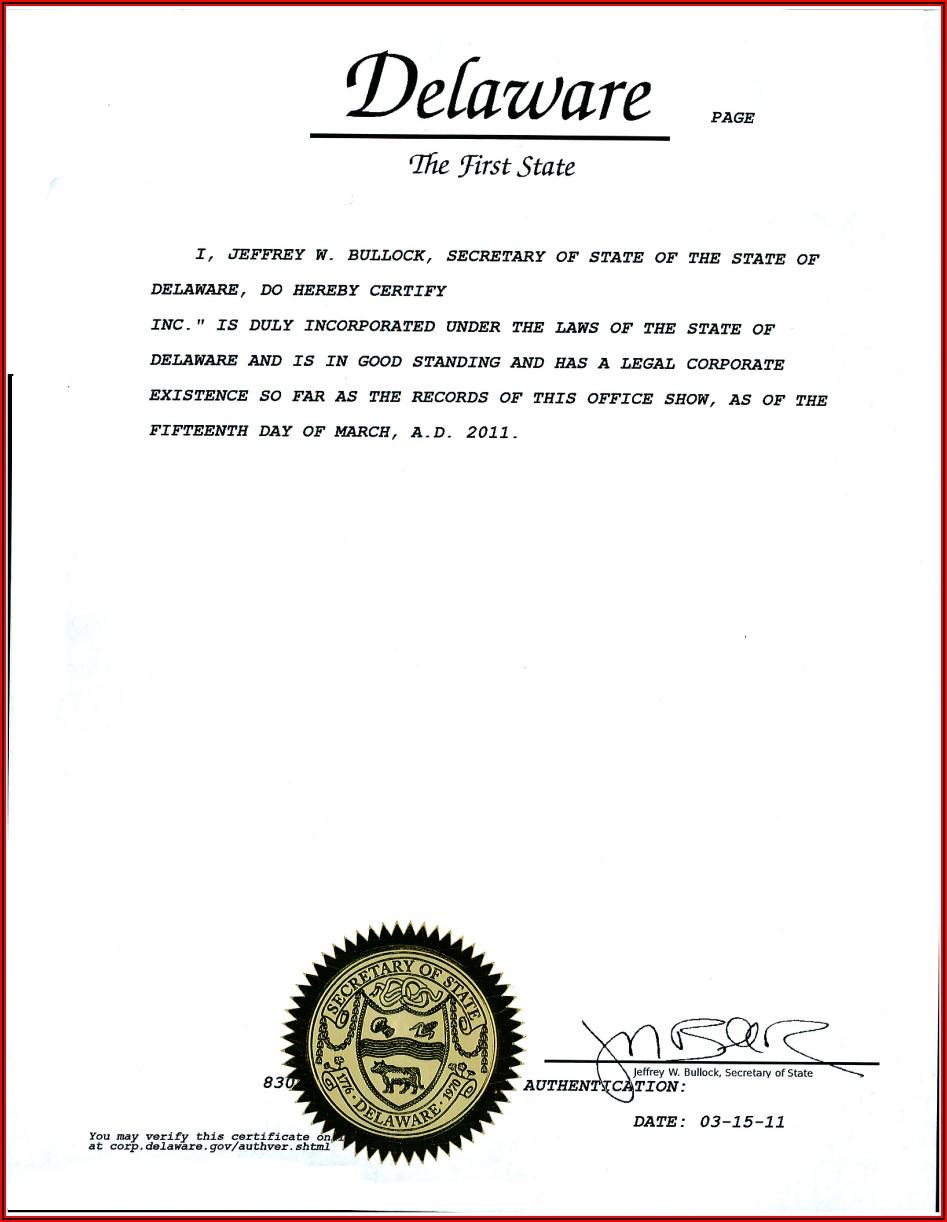 Delaware Birth Certificate Request Form