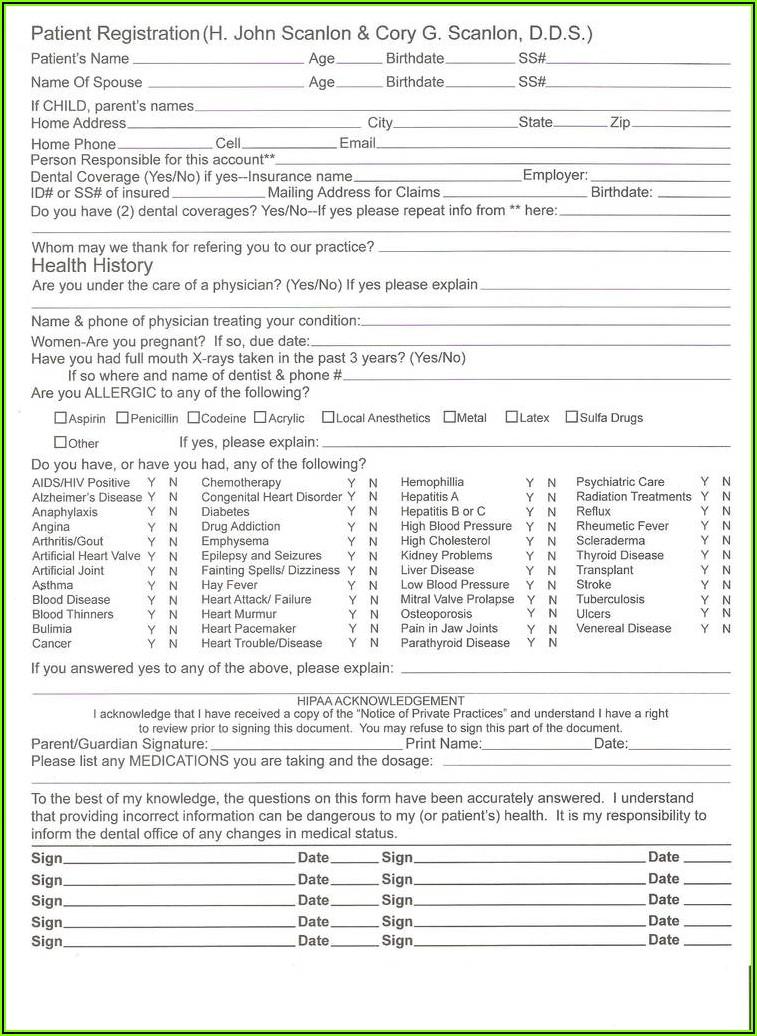 Dental Patient Consent Form Template
