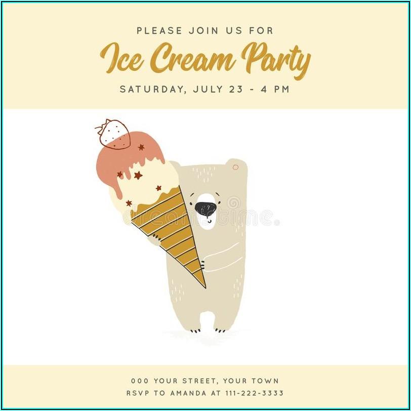 Dessert Party Invitation Template