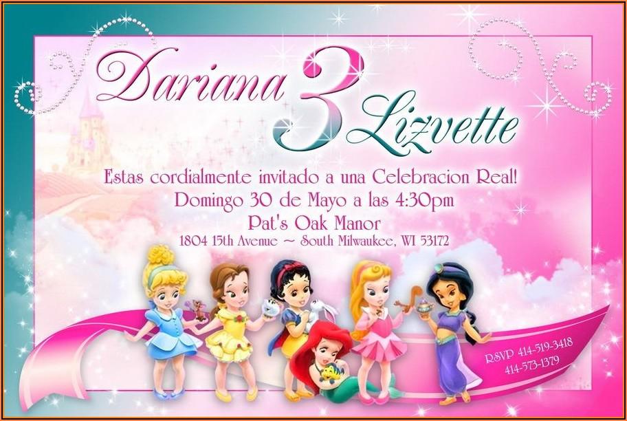 Disney Princess Invitations Free Templates