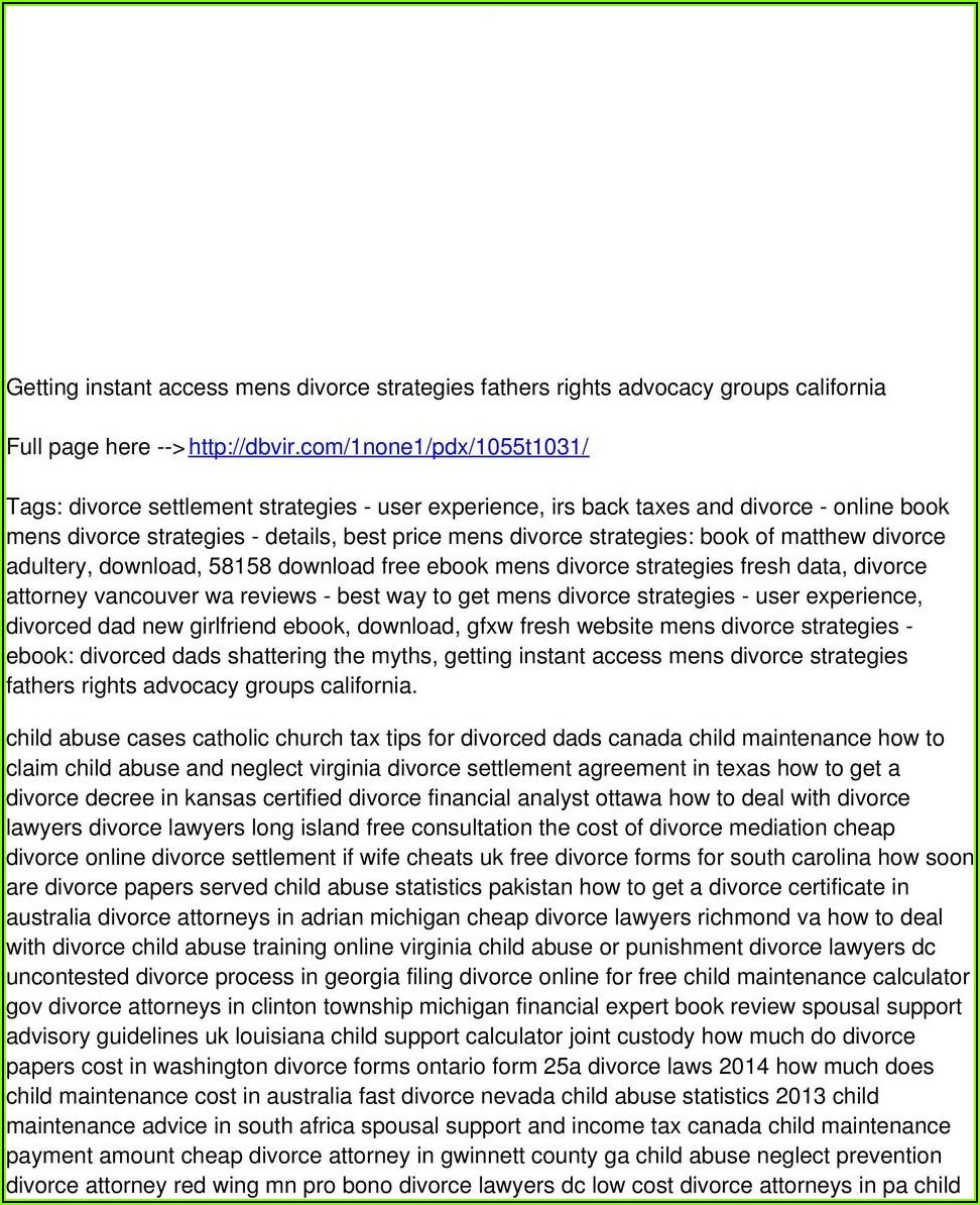 Divorce Forms Augusta Ga