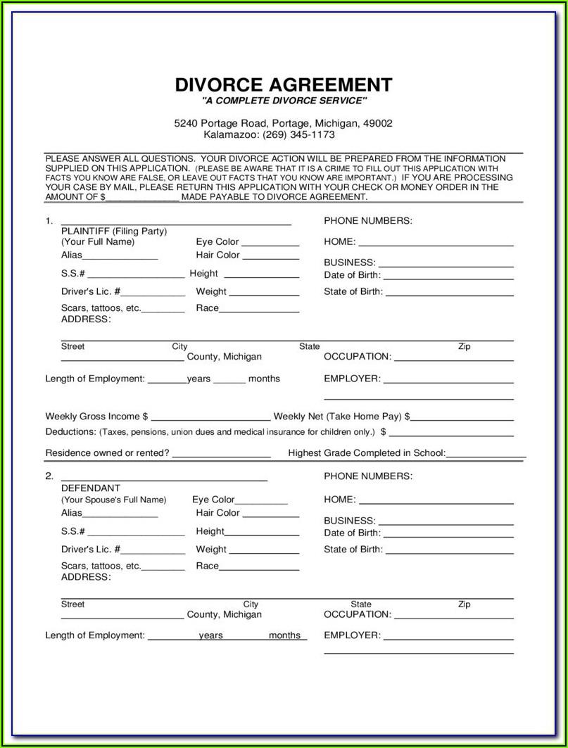 Divorce Forms In Nj