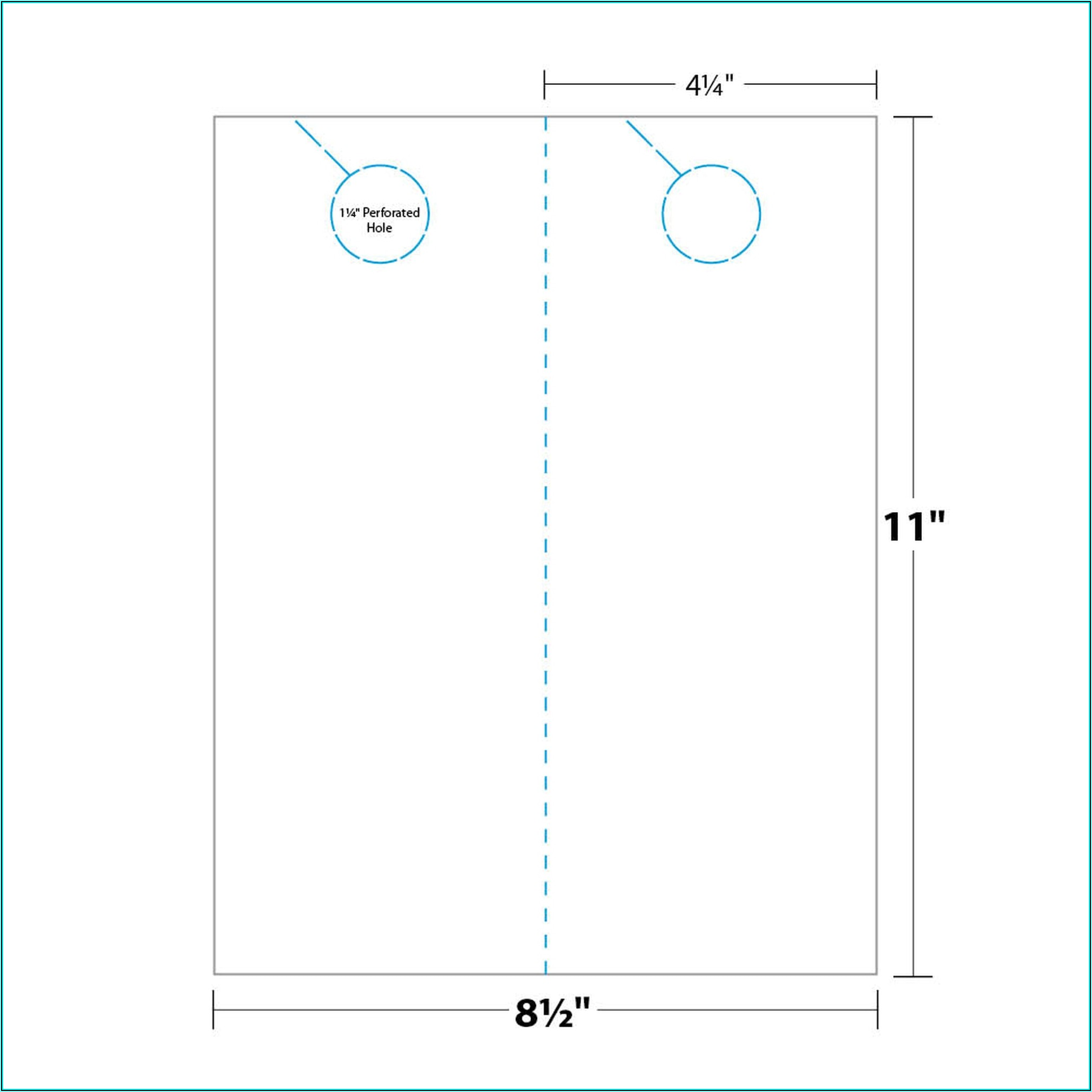 Door Hanger Template 4.25 X 11