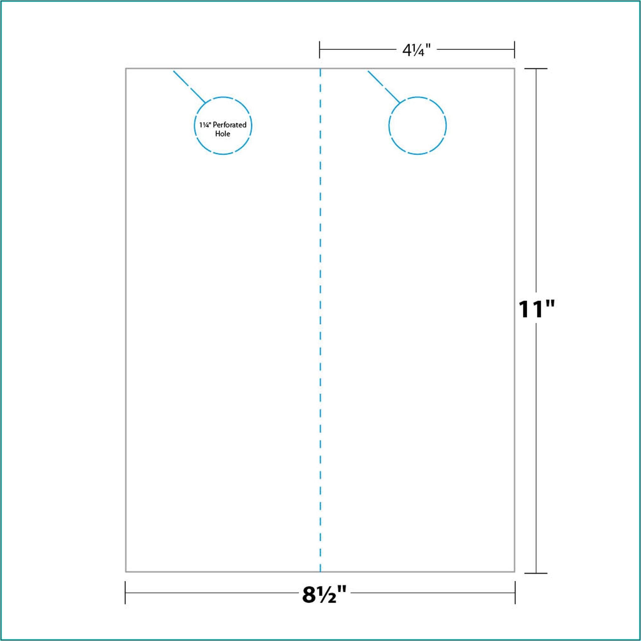 Door Hanger Template 4.25 X 11