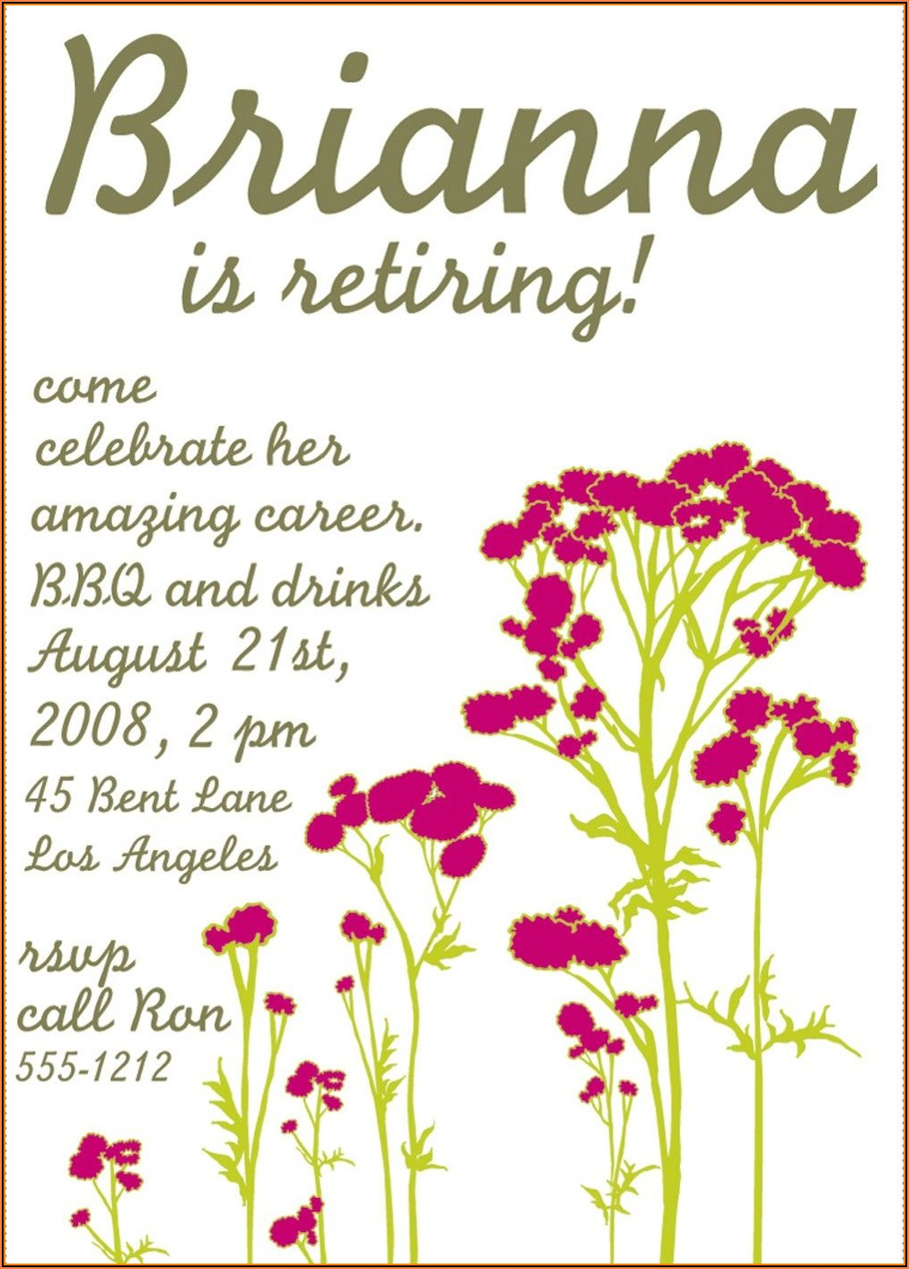 Downloadable Free Retirement Party Invitation Templates For Word