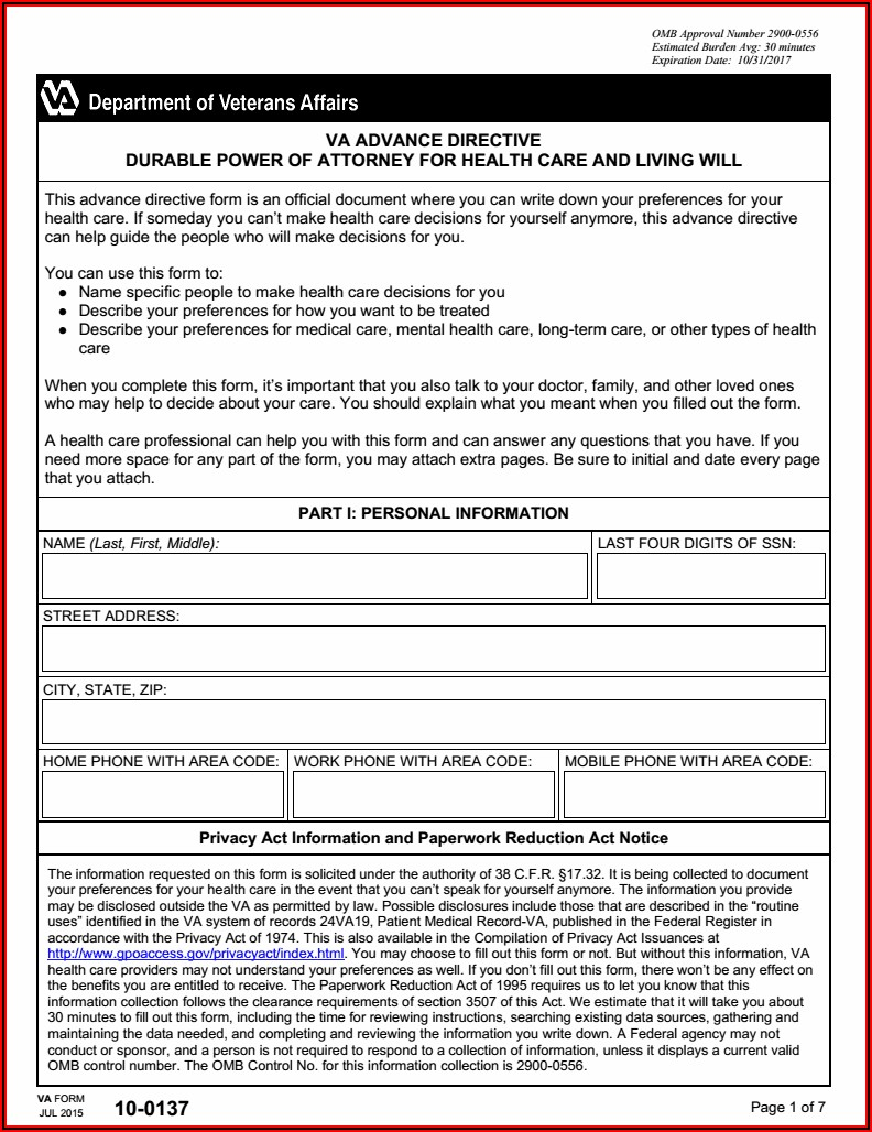 Durable Power Of Attorney Form Virginia Free