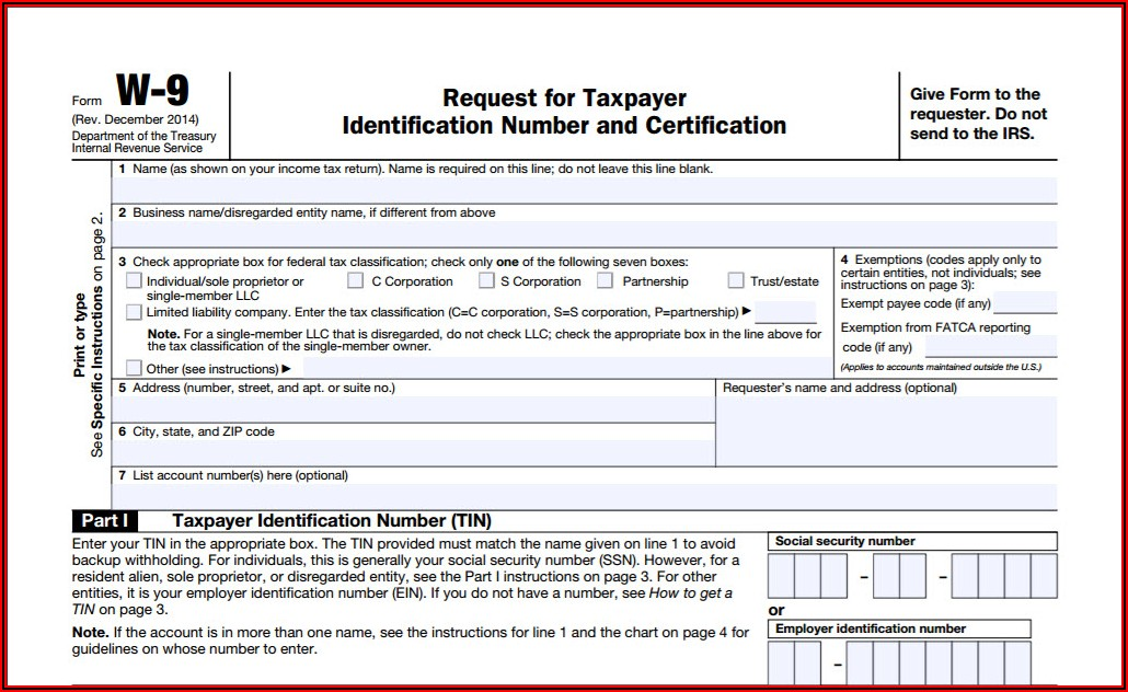 Electronic Signature W9 Form