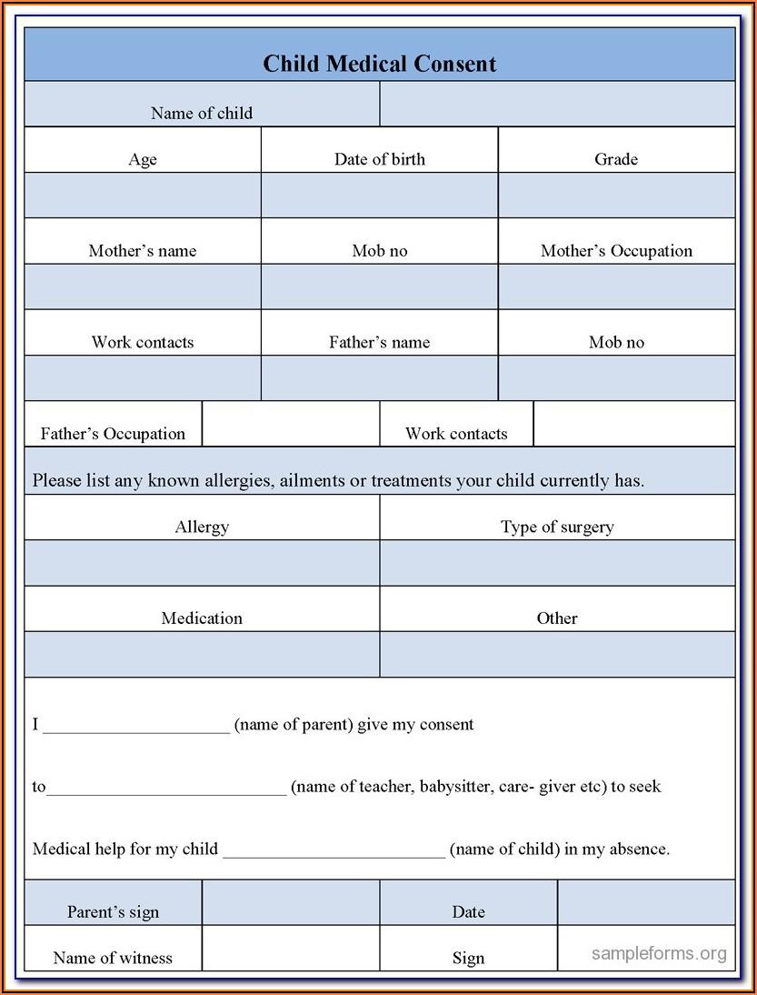 Emergency Medical Id Card Template