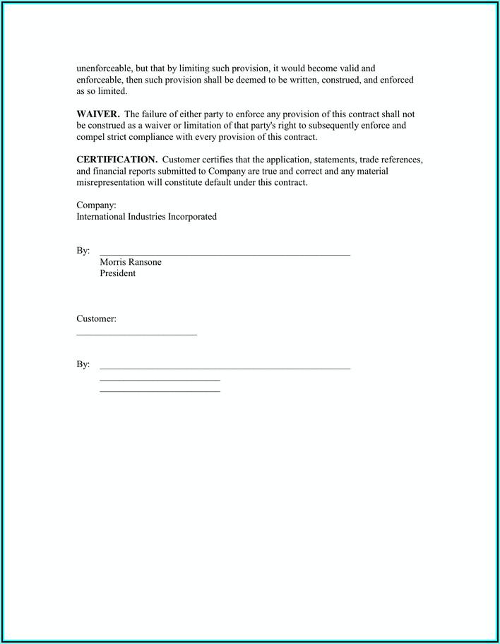 Equipment Rental Contract Template Word