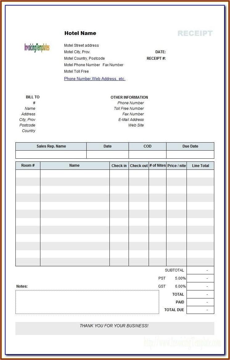 Fake Invoices Templates