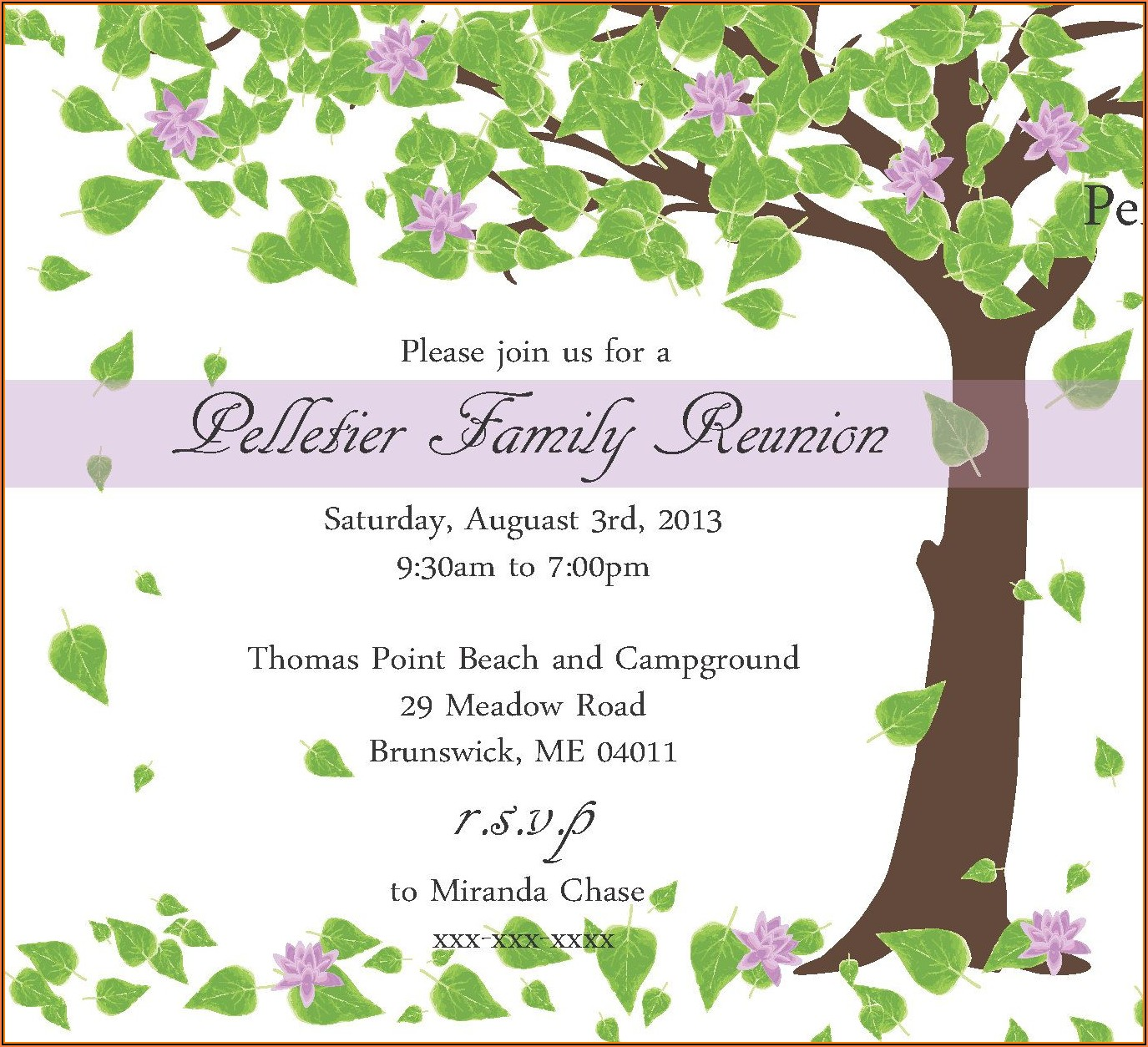 Family Reunion Invitation Designs