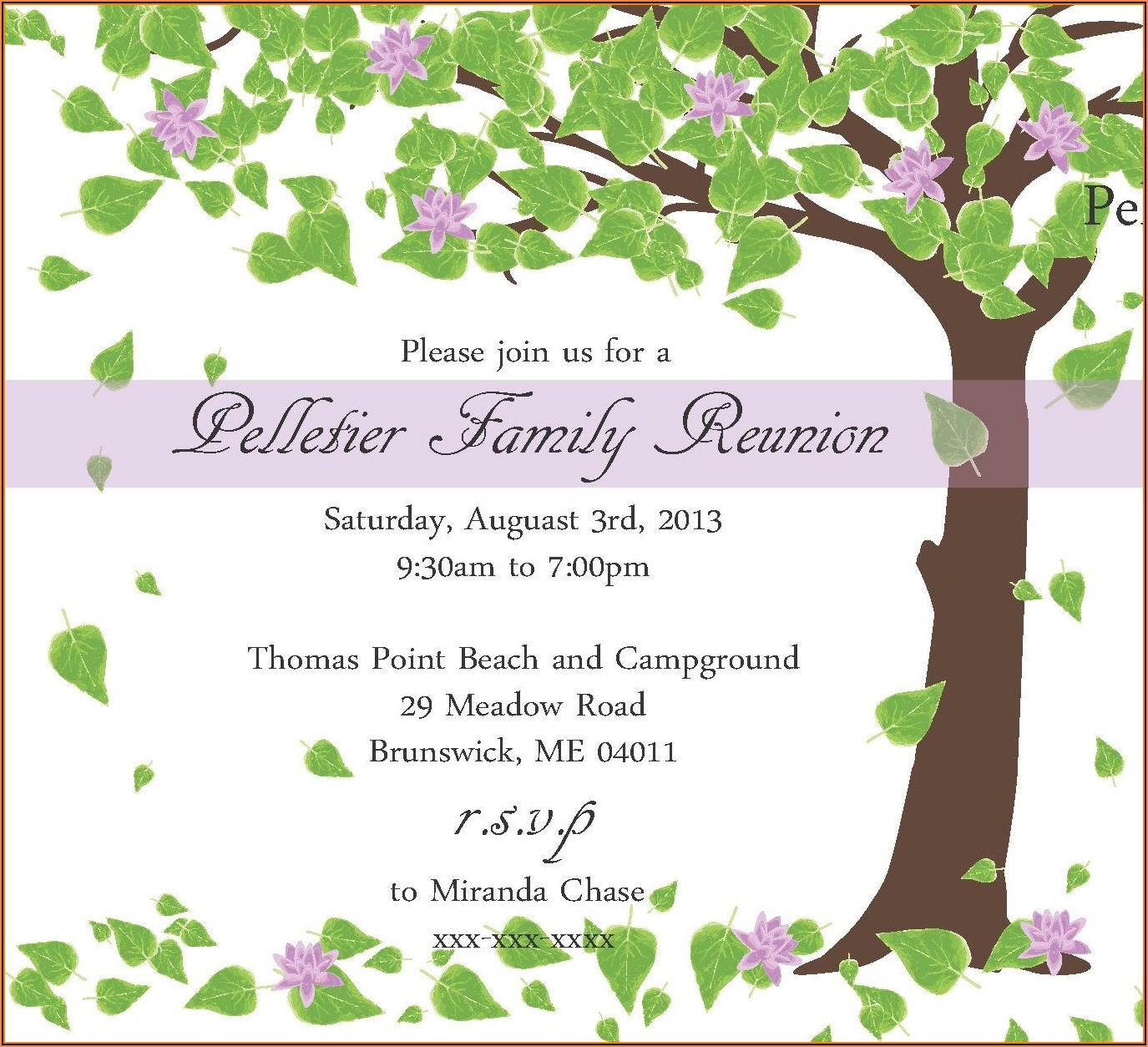 Family Reunion Invitation Designs