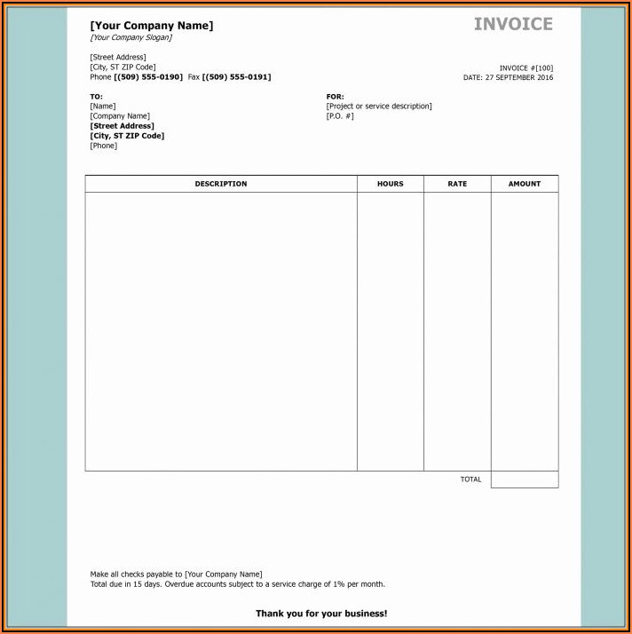 Fccla Interior Design Invoice Template